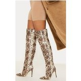 Snake Knee High Boot