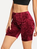 Solid Velvet Cycling Shorts