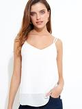 Textured Double Strap Cami Top