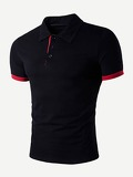 Men Solid Polo Shirt