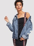 Ripped Faded Wash Denim Jacket
