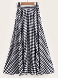 Gingham Flared Skirt