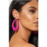 Neon Pink Shell Statement Hoops