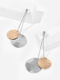 Double Disc Drop Earrings 1pair