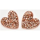 Rose Gold Crystal Cluster Heart Earring