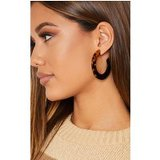 Brown Tortoiseshell C Shape Earrings