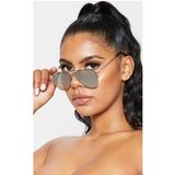 Silver Revo Aviator Sunglasses