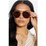 Brown Lens Gold Frame Aviator Sunglasses