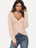 Criss Cross V-cut Neck Jumper