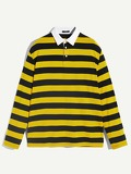 Men Bee Striped Polo Shirt