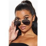 Black Glitter Frame Aviator Sunglasses