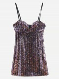 Colourful Sequin Cami Dress