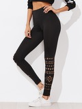 Laser Cut Empire Skinny Leggings