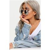 Quin Silver Mirrored Aviator Sunglasses