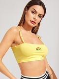Rainbow Crop Cami Top