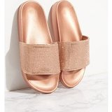 Rose Gold Diamante Strap Slides