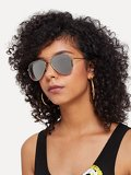 Silver Lenses Top Bar Sunglasses
