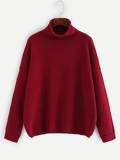 Rolled Neck Drop Shoulder Jumper