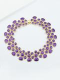 Purple Enamel Maxi Collar Choker Necklaces