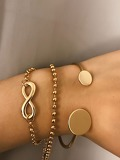 Infinity & Disc Bracelet Set 3pcs