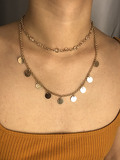 Metal Pendant Layered Chain Necklace