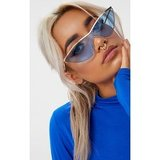 Light Blue Extreme Cat Eye Sports Sunglasses