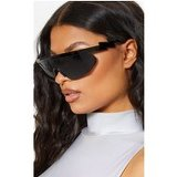 Black Futuristic Visor Sunglasses