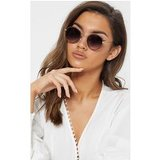 Brown Lens Round Frame Retro Sunglasses