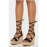 Black Ghillie Espadrille Wedge
