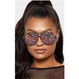 Multi Gemstone Covered Aviator Glasses