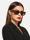 Flat Top Chunky Frame Sunglasses