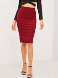 Zip Back Pencil Skirt