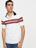 Men Contrast Collar Polo Shirt