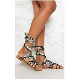 Multi Print Ghillie Lace Up Sandal