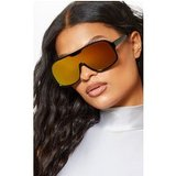 Black Frame Yellow Lens Retro Round Sunglasses