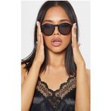 Black Classic Full Lense Round Sunglasses