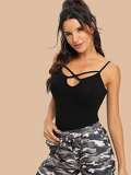 Crisscross Front Fitted Cami Top