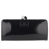 Black Leather Frame Purse