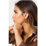 Light Brown Speckled 3/4  Disc Earrings