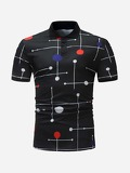 Men Geometric Print Polo Shirt