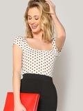 Polka Dot Form Fitted Tee