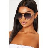 Quay Australia Black X Desi High Key Aviator Sunglasses