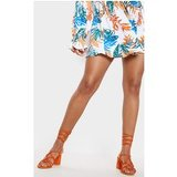 Orange Block Heel Leg Tie Sandal
