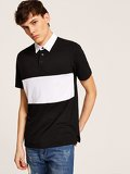 Men Two Tone Polo Shirt