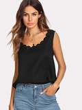 Scalloped Laser Cut Tank Top