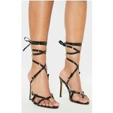 Black Cage Strappy Sandal
