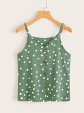 Polka Dot Button Cami Top