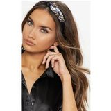 Blue Satin Scarf Print Headband