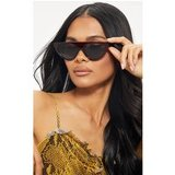 Red Large Flat Top Cat Eye Sunglasses
