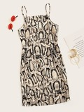 Snakeskin Print Cami Dress